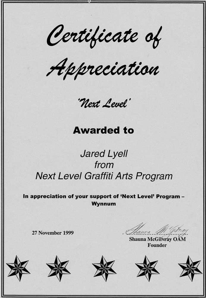 Next Level Certificate 3