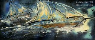 Deep Ocean Sail Boat Racing